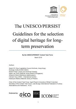 The Unesco Persist guidelines